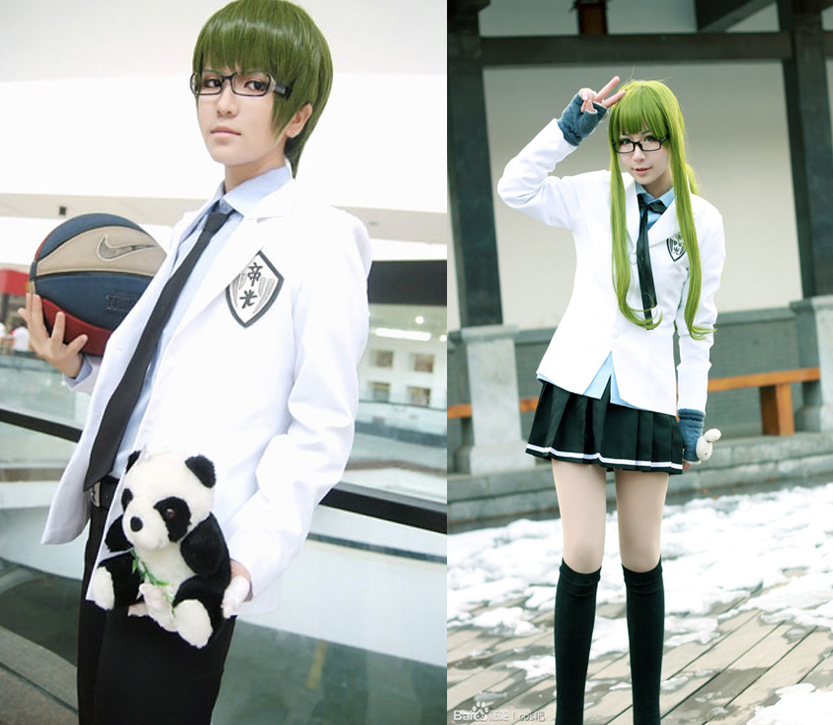 Kuroko no Basket cosplay Teikon white suit middle school uniform costumes man and woman two style cos suit