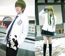 Kuroko no Basket cosplay Teikon traje blanco uniforme de la escuela media trajes de hombre y mujer dos cos estilo traje