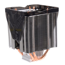 Powerful 100x100x135mm 4 Copper Heat Pipe CPU Cooler Fan for Desktops Computer Adopts Hydraulic Structure and Ultra Quiet Fan