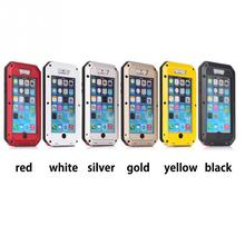 HOT Shockproof Waterproof Aluminum Metal Heavy Duty Armor Hard Case For iphone 4 4s 5 5s