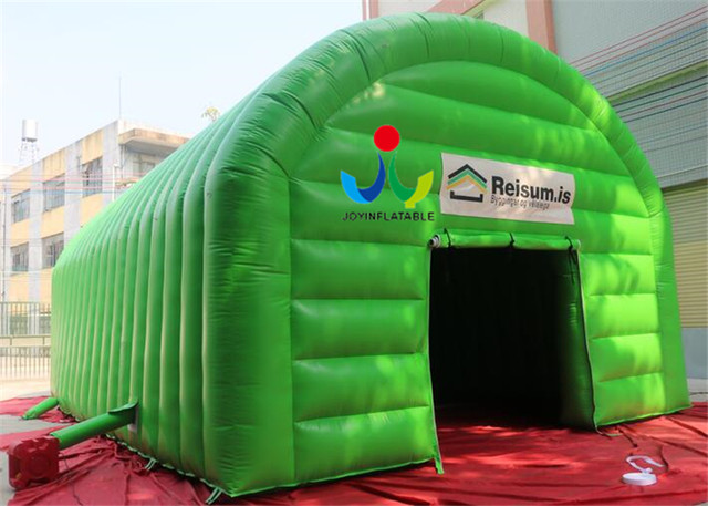 11X7M Waterproof Green Tunnel Air Inflated Tents with Doors for Event & Online Shop 11X7M Waterproof Green Tunnel Air Inflated Tents with ...