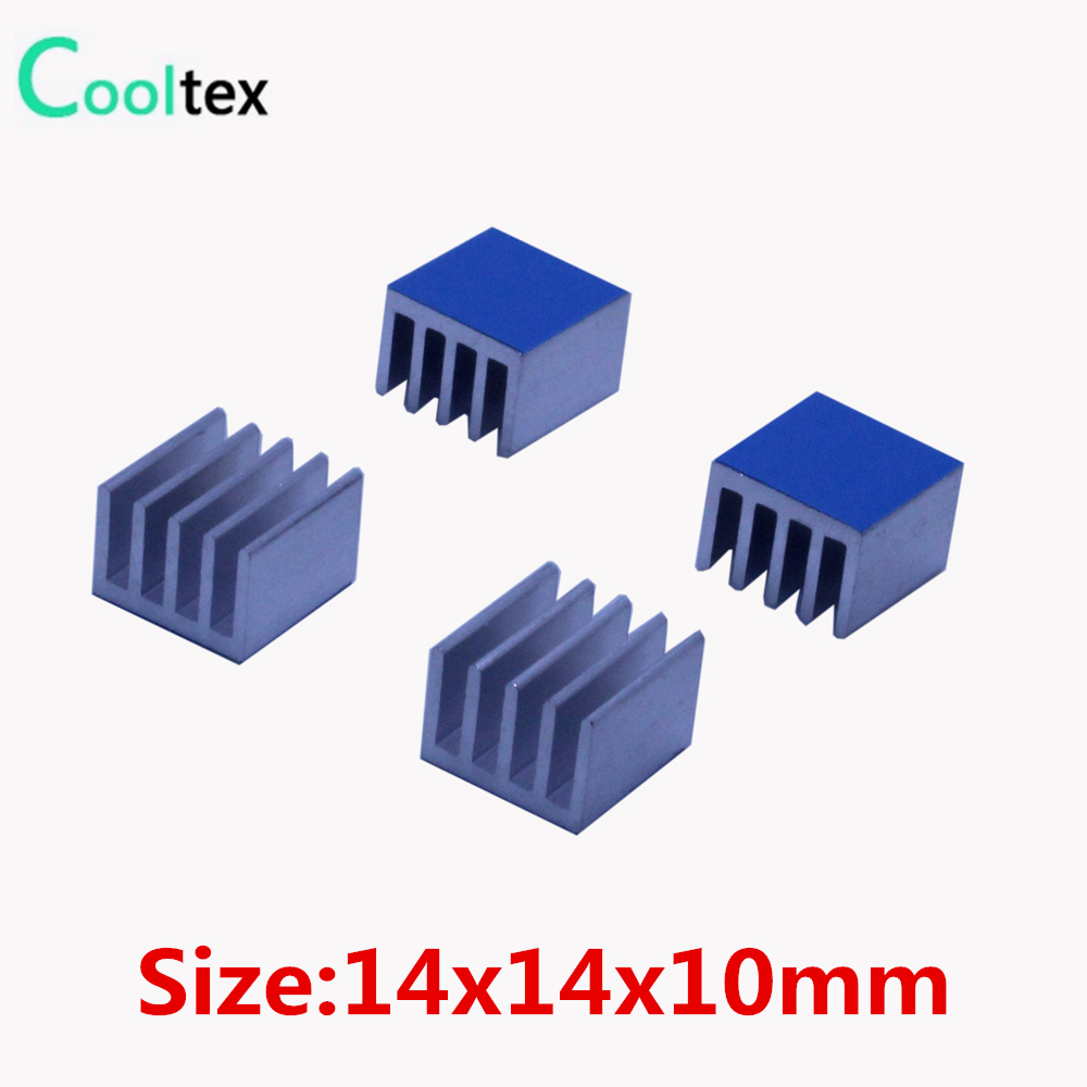 20pcs 14x14x10mm Aluminum Heatsink Heat Sink Cooler Cooling For Electronic Chip With Thermal Conductive Double sided Tape 20pcs lot aluminum heatsink 14 14 6mm electronic chip radiator cooler w thermal double sided adhesive tape for ic 3d printer