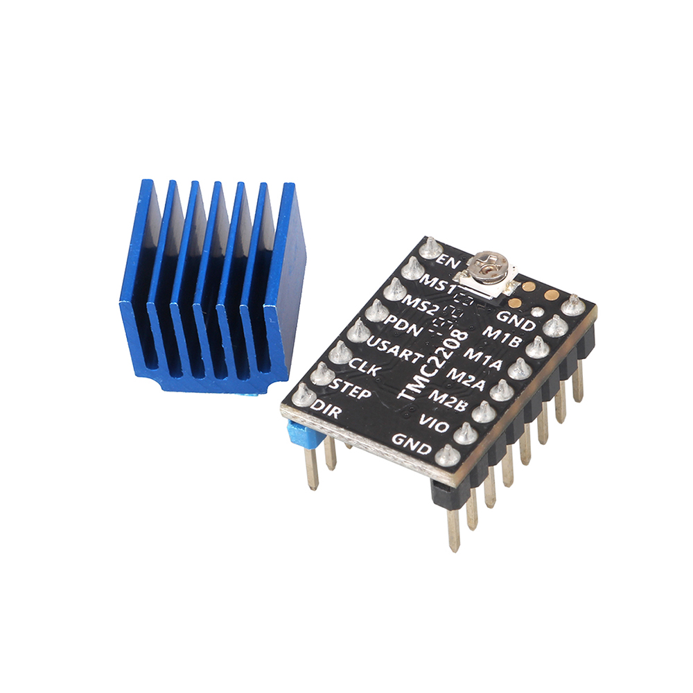 lowest price LERDGE 3D Printer Parts 4PCS Stepstick TMC2208 Stepper Motor Driver Super Silent With New Heat Sinks Replace TMC2100