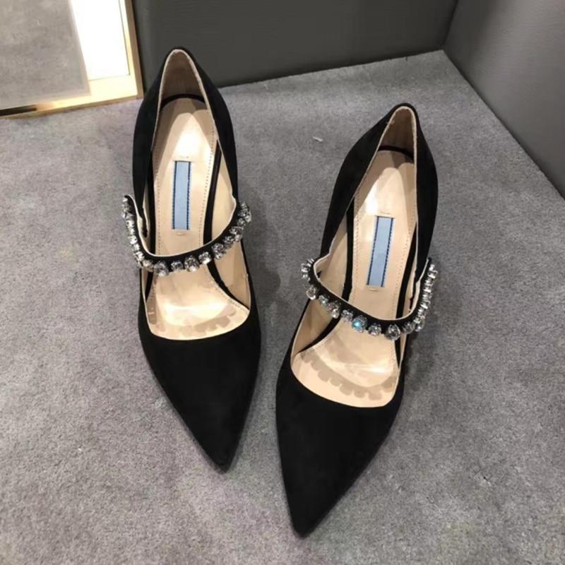 Élégantes Hauts 9cm Mariage Dames Talons Pompe Cristal Femmes 7cm Chaussures Stilettos De Noir Parti Show Bling As Sexy as Femme Sapato Feminino Marque ndq0xx4YB