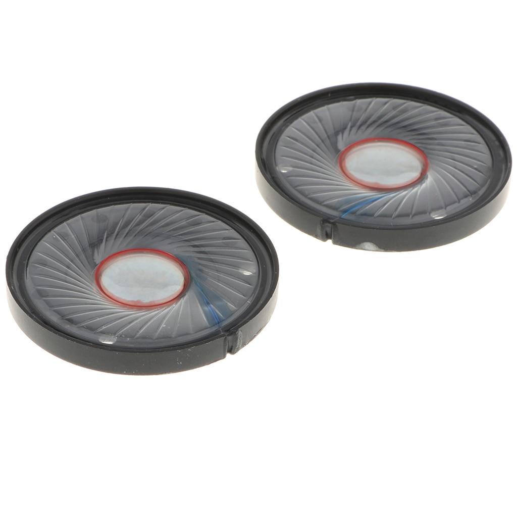 2 Pcs Electronic Material Headphone Speaker Parts Speakers Driver for 40mm Headphones Drivers (40mm,32 Ohm)