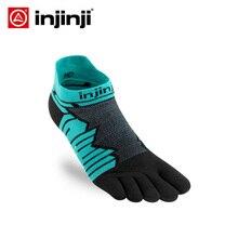 INJINJI Five Finger Socks ULTRA Run No-show Mid Weight Long Distance Running Cycling for mens Marathon Ultra