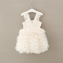 Alta qualidade rendas meninas vestido de flor crianças vestido de festa para casamento das crianças princesa menina elegante roupas da criança do bebê vestido