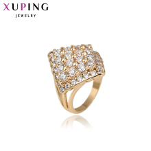 11.11 Deals Xuping Luxury Ring Popular Design Charm Style Ring for Girl Women Gold Color Plated Christmas Rings Jewelry 13501