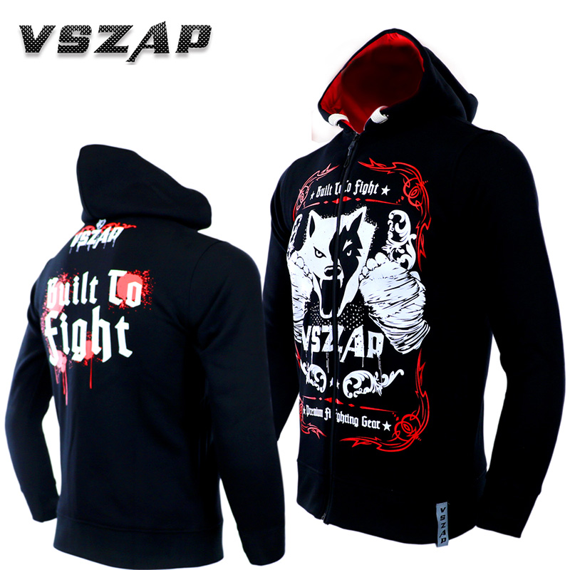 New Men's Hoodie Jacket MMA Long Sleeve Fight VSZAP Genuine Mma Fighting Fitness Warming Sportswear