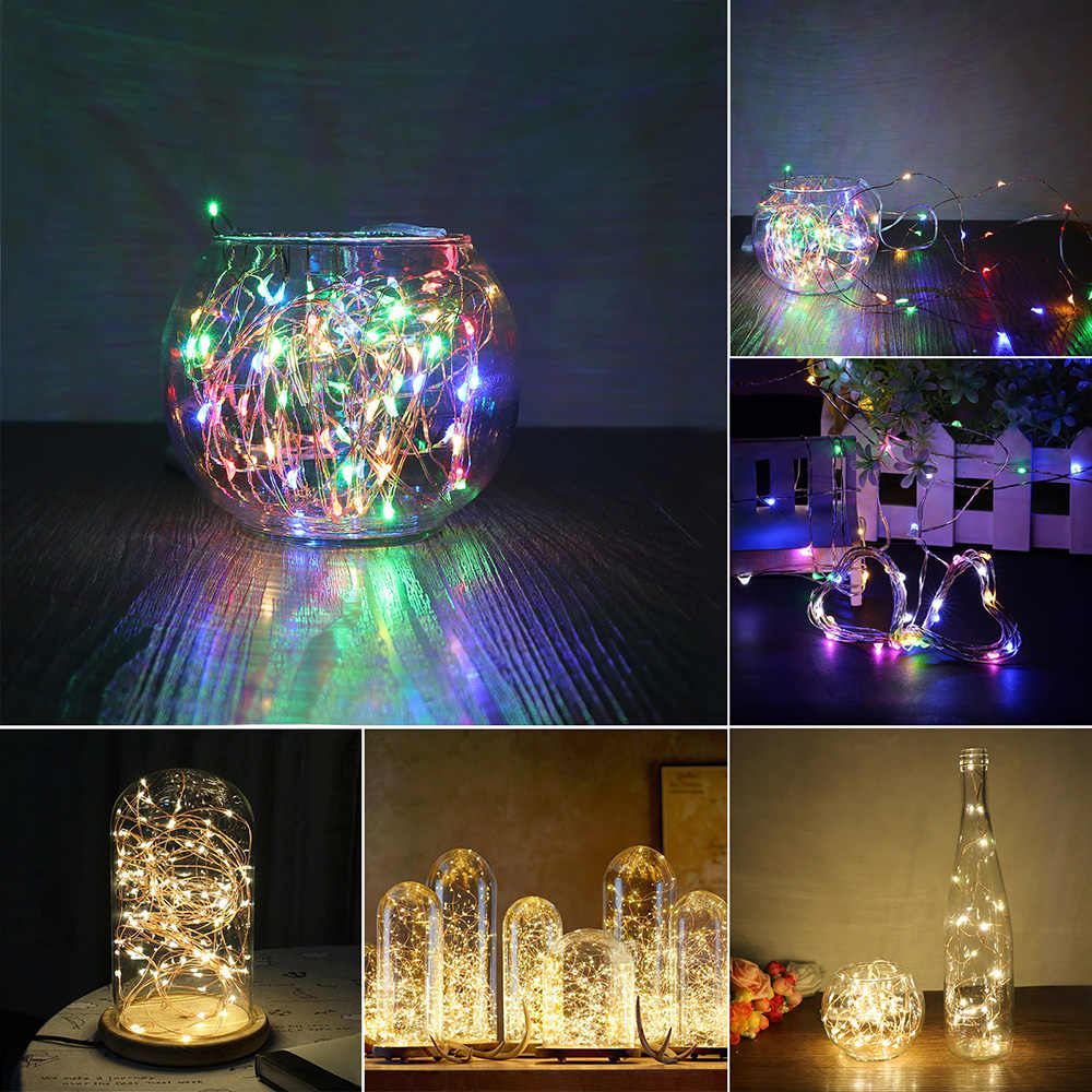 2M 3M 5M Copper Wire LED String lights Waterproof Holiday lighting For Fairy Christmas Tree Wedding Party Decoration