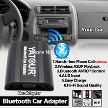 Yatour Bluetooth Car Adapter Digital Music CD Changer 2*6Pin Switch Cable Connector For Ford Focus Fusion Explorer Radios