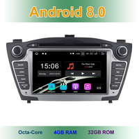 4 GB RAM Android 8.0 Car DVD Player for Hyundai iX35 IX 35 Tucson 2011 2012 2013 with Radio WiFi Bluetooth GPS