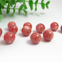 Wholesale 8mm Genuine Natural Red Rhodochrosite Gem Stone Round Loose Beads For Jewelry Making DIY Hand Craft Necklace Bracelet