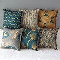 """18"""" Square Natural Colourful  Cotton Linen Cushion Sofa Decorative Throw Pillow Chair Car Home Decor"""