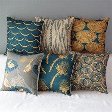 18 «квадратный натуральный красочный хлопок лен подушки Диван Декоративные пледы детские стул автомобиля домашний декор