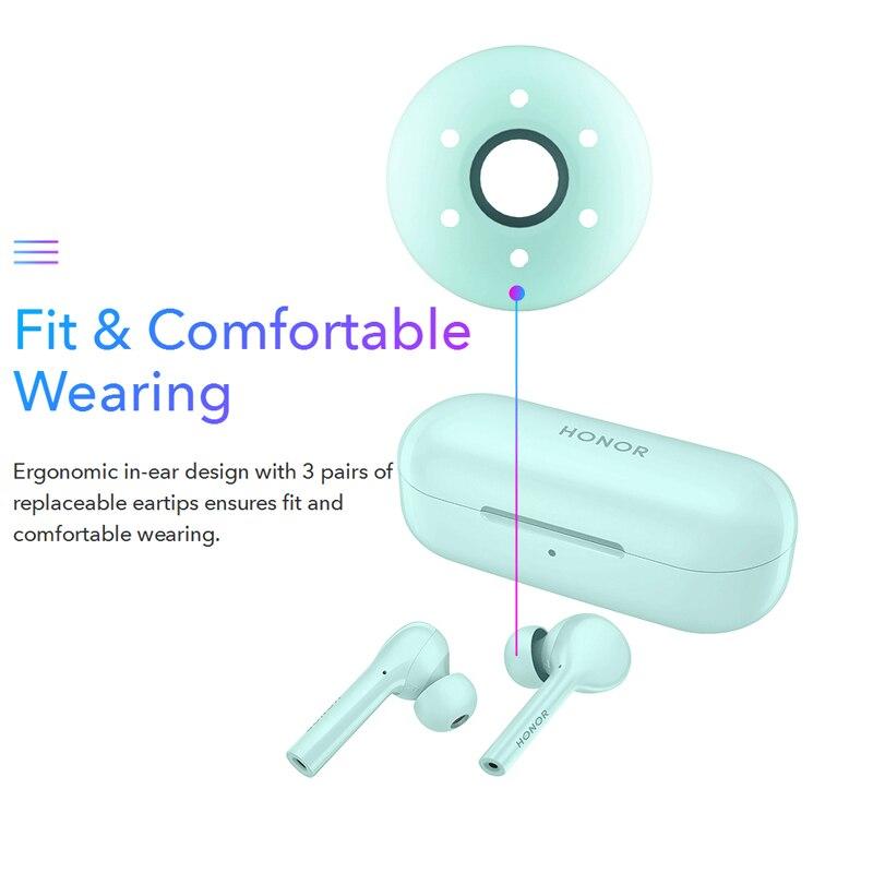 Image 4 - Huawei Honor Flypods Lite TWS Wireless earphone Hi Fi Waterproof IP54 Tap control Wireless Charge Bluetooth 4.2-in Bluetooth Earphones & Headphones from Consumer Electronics