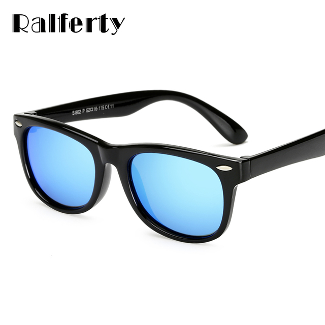 1e4780a709 Ralferty Kids Boys TR90 Unbreakable Polarized Sunglasses Children Girls  Safety Polaroid UV400 Mirror Sun Glasses Sport