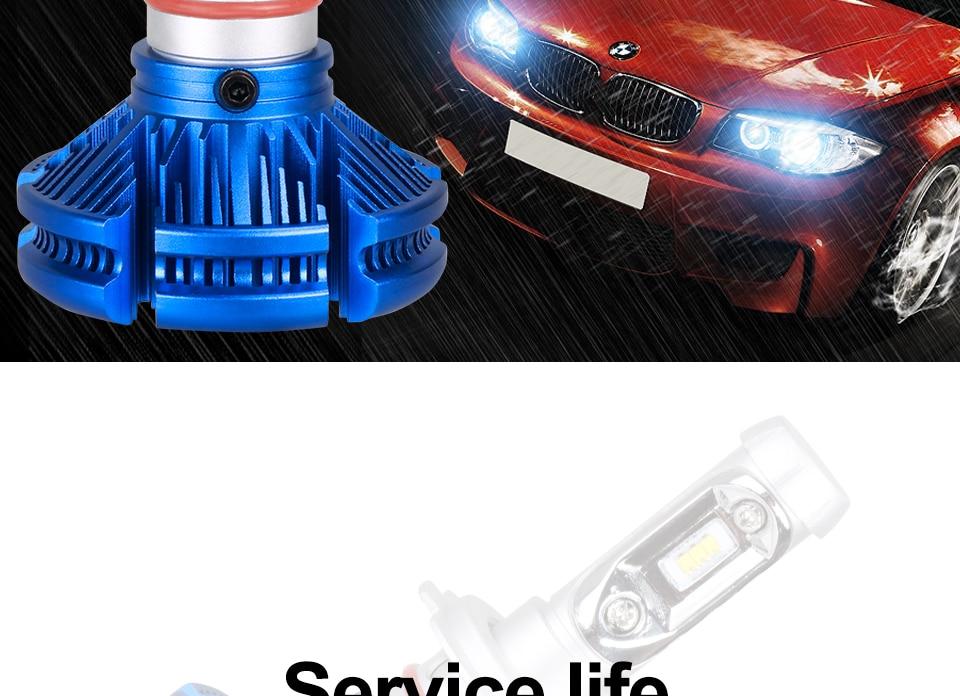 H4 Led CSP Chips H7 LED Headlights Auto-styling Led Car Bulb H1 H11 Fog Lamp Fanless (6)