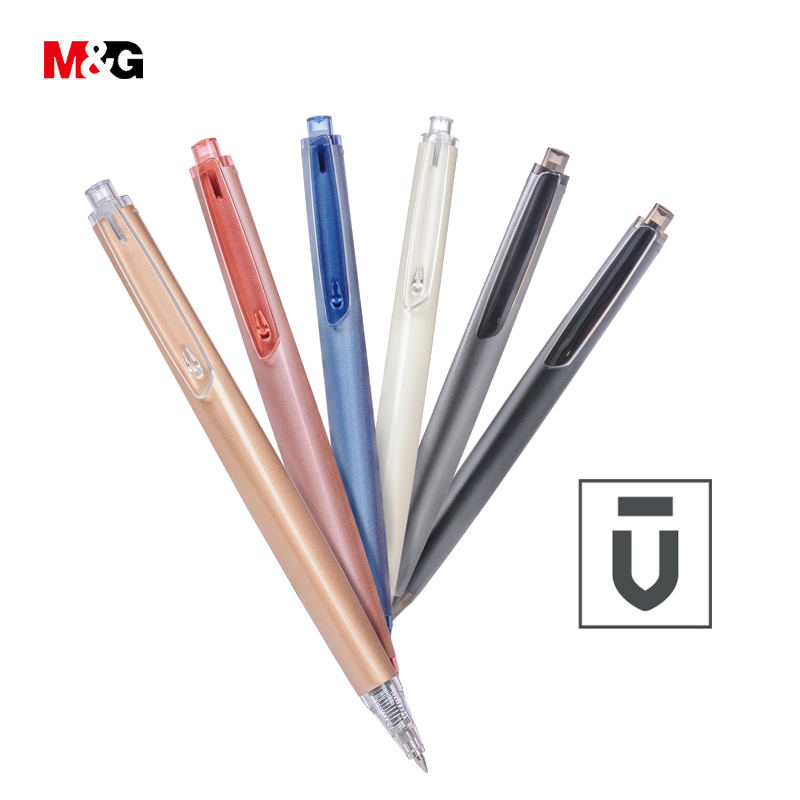 M&G Wholesale 0.5mm high quality luxury gift metal ballpoint gel pens for school writing stationery office supplies business pen 1pcs high grade metal business gel pens sustained high quality signing pen for school office supplies writing with packaged box