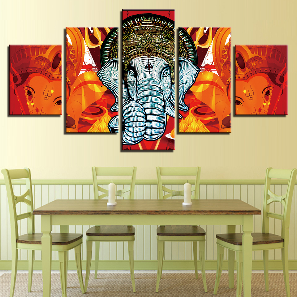 Modern Printing Wall Art Frames Modular Posters Pictures 5 Pieces ...