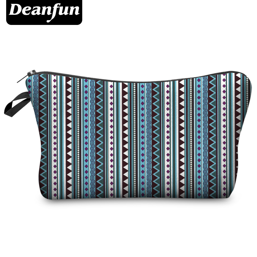 Deanfun Fashion Brand Cosmetic Bags  Hot-selling Women Travel Makeup Case H74 deanfun travel cosmetic bag 2016 hot selling women brand small makeup case 3d printing christmas gift water pig h46