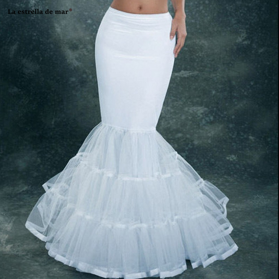 Back To Search Resultsweddings & Events La Estrella De Mar Jupon Mariage New Tulle Sexy Mermaid Enaguas Para El Vestido De Boda Long Underskirt High Quality Petticoat