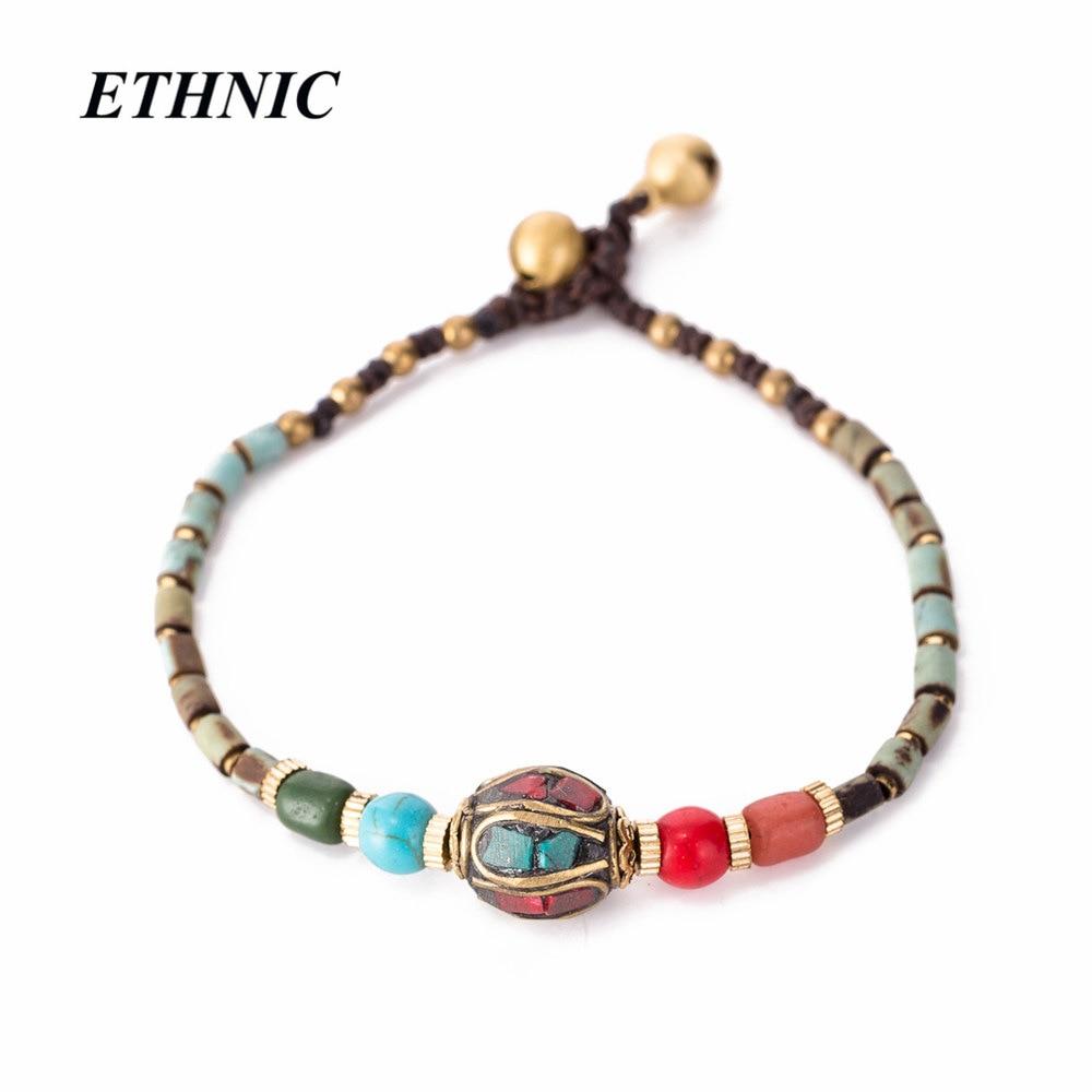 Bohemian Nepal Stone Beaded Chain Bracelets Gypsy Bracelet Accessories Jewelry