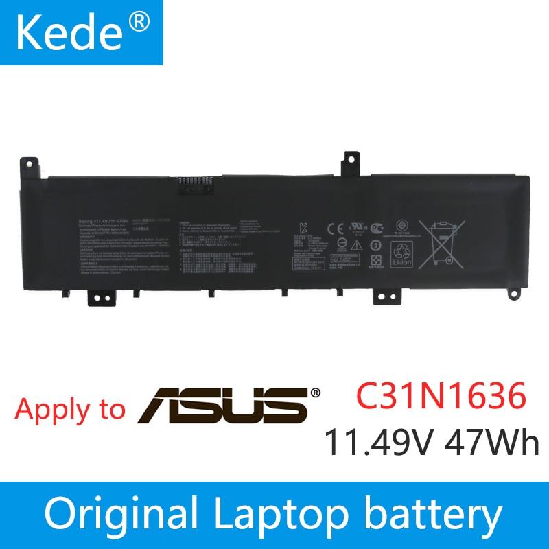 Kede  Laptop Batteries For ASUS C31N1636,X580VD-1B,VivoBook Pro 15 N580VD,Pro 15 N580VD-FY252T,Pro 15 N580VD-FI033T,11.49V