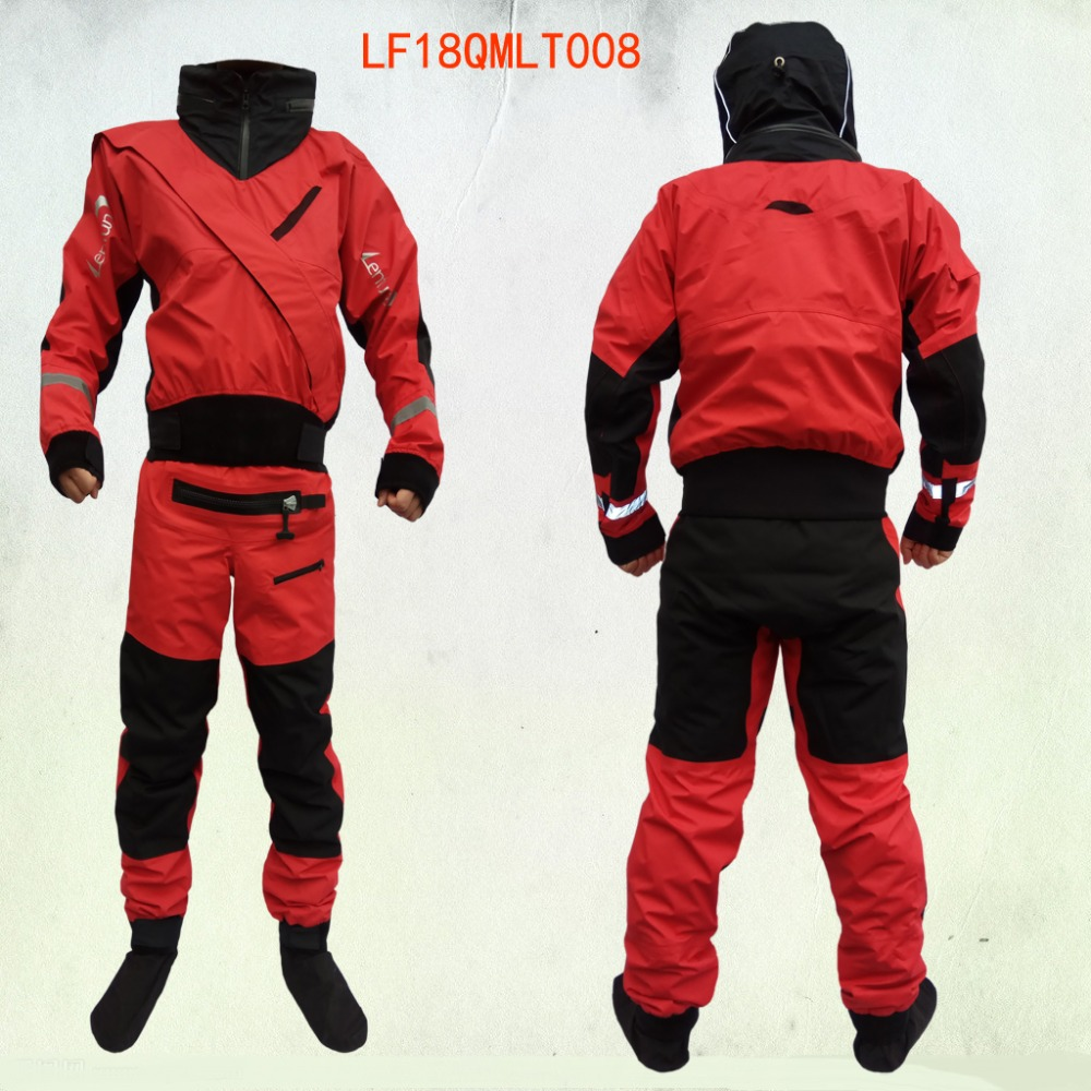 Full-Dry-Suit Whitewater-Kayak Hood Sailing Fishing New Front Zipper with for Tizip Enter