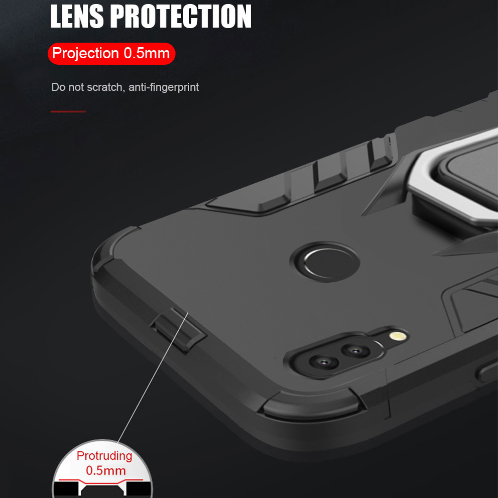 Image 5 - For huawei honor 10 lite case Armor Ring Magnetic Car Hold Shockproof Soft Bumper Phone Cover For huawei honor 10 lite Case-in Fitted Cases from Cellphones & Telecommunications