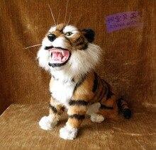 Высокая Моделирования Большой Искусственный Тигр Животное Домашнее Украшение Фотография Реквизит Искусственный Тигр Игрушка в Подарок(China (Mainland))