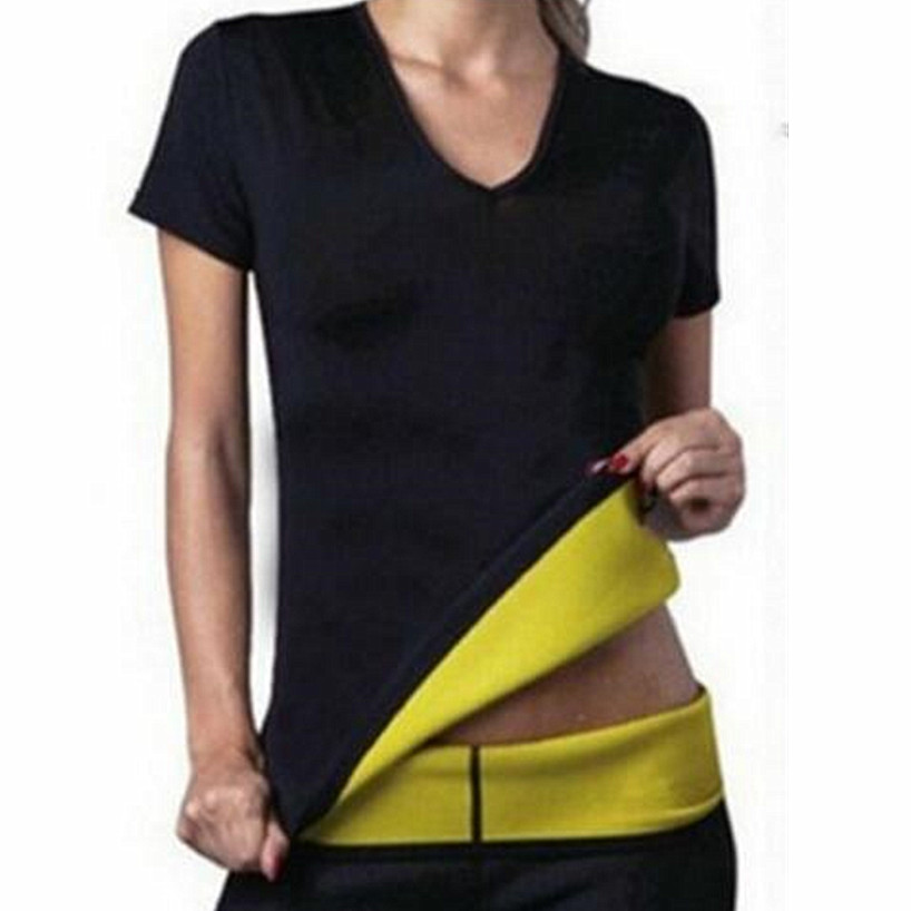 2018 chenye Shapers Women's Compression Slimming Shirt T-shirt Women Casual Lady Top Neoprene Female Brand Clothing Shirt Tops(China)