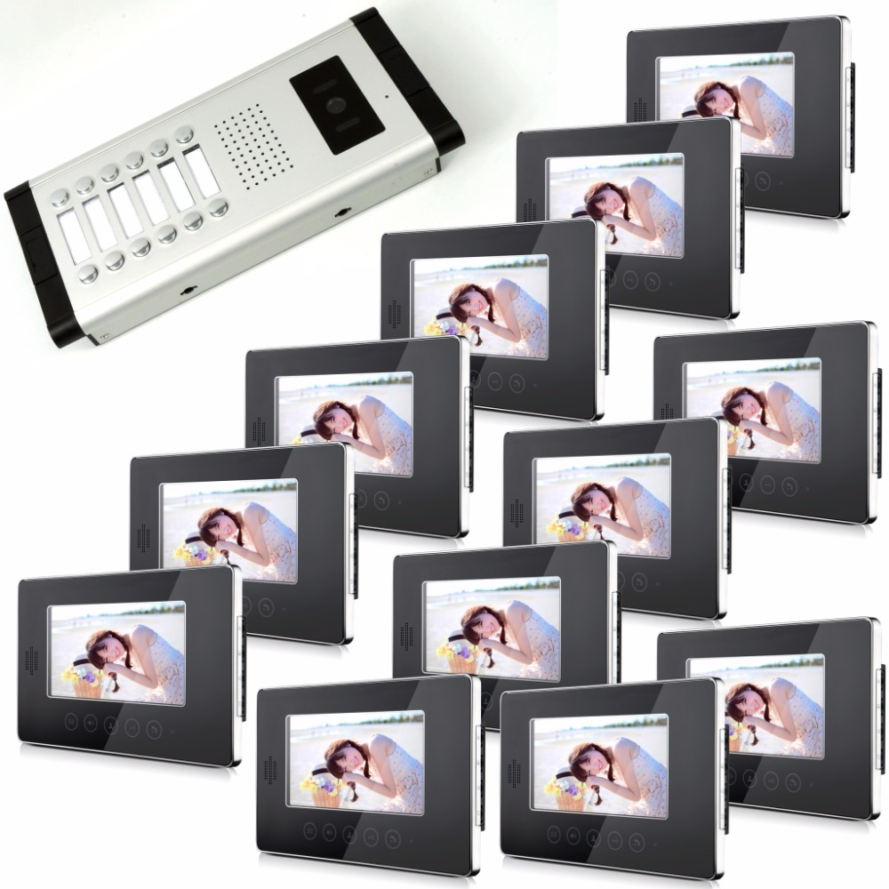 цена на Multi-Monitor 7 Inch LCD Monitor Two Way Intercom Video Door Phone