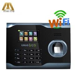 Горячая продажа биометрический отпечаток пальца посещаемость времени часы Linux система ZK U160 wifi рекордер посещаемости времени wifi связь