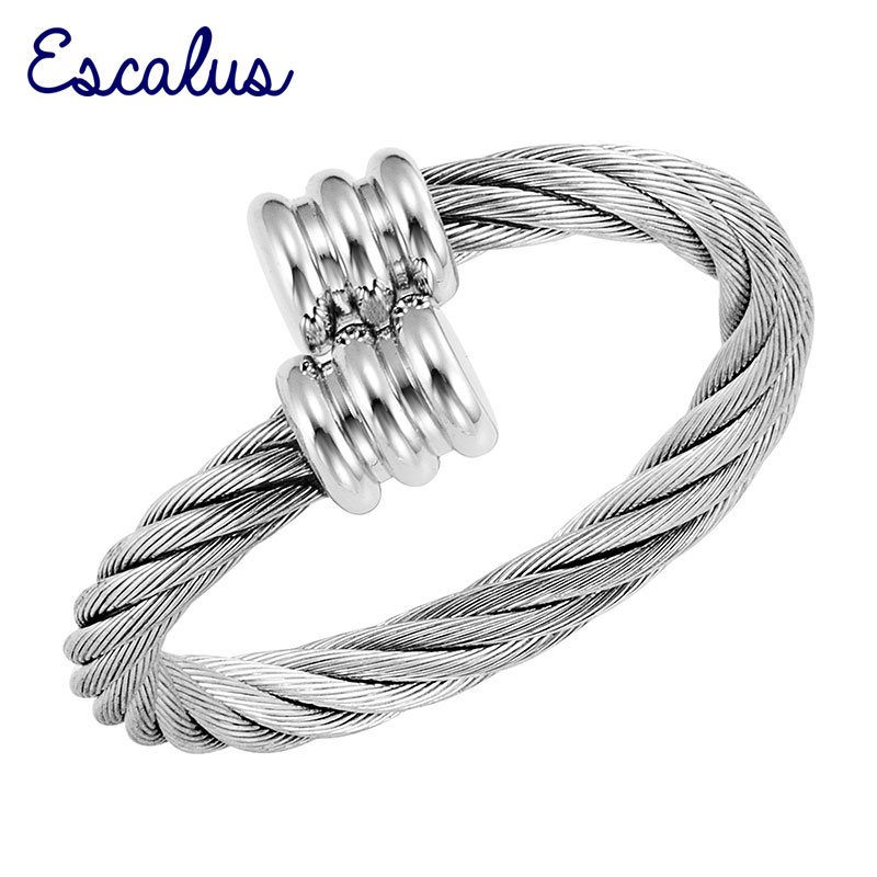 Escalus Women Size Adjustable Silver Magnetic Copper Made Resizable Ring Female Magnet Ladies Jewelry Finger Wear Charm