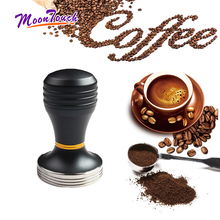 Stainless Steel Coffee Tamper Aluminum Alloy Solid Handle Powder Hammer 58.5mm Detachable Design Accessories