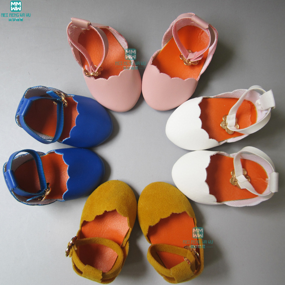 7cm Fashion Doll Shoes For 18 Inch 45CM Girls Doll Leather Shoes For Children's Birthday Holiday Gift