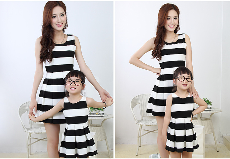 Matching Black and White Dresses