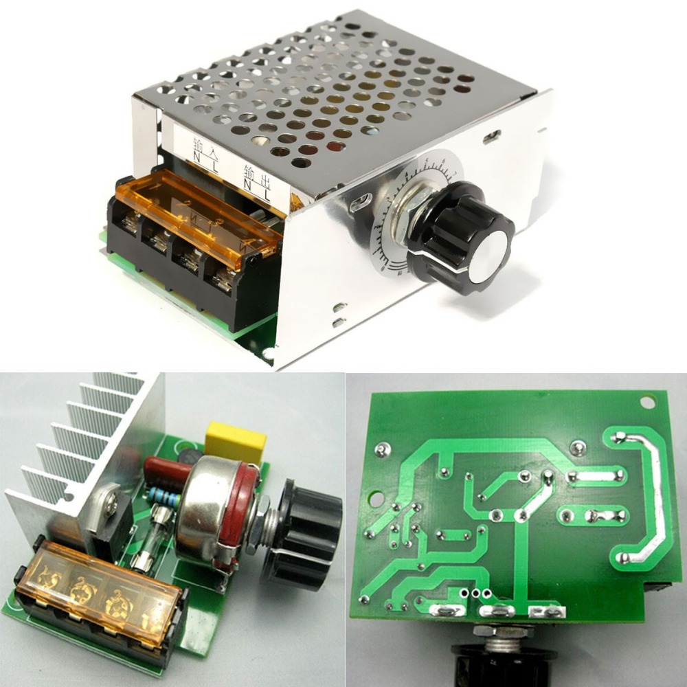 New Electric Unit High quality 4000W 220V AC SCR Voltage Regulator Dimmer Electric Motor Speed Controller NEW