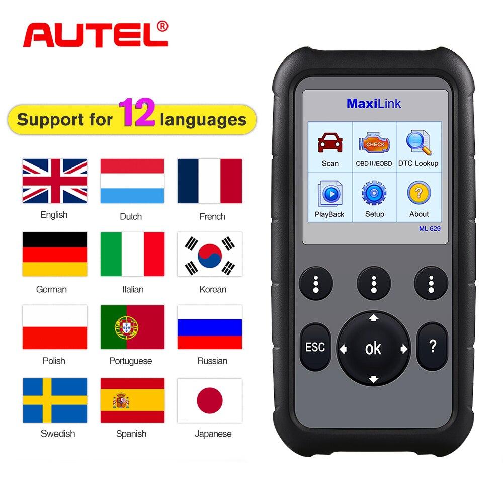 Autel MaxiLink ML629 OBD2 Auto Scanner Diagnostic Tool Car Diagnostic Scanner Automotivo obdii obd ii scanner scan tool