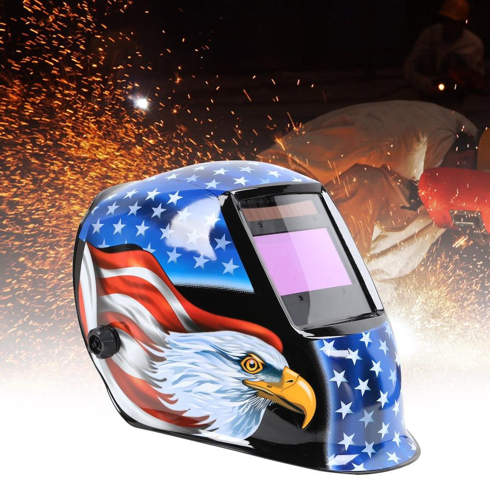 Welding Helmet Adjustable Sensitivity and Delay Time Solar Auto Darkening Safe Protective Equipment With Adjustable Head Frame