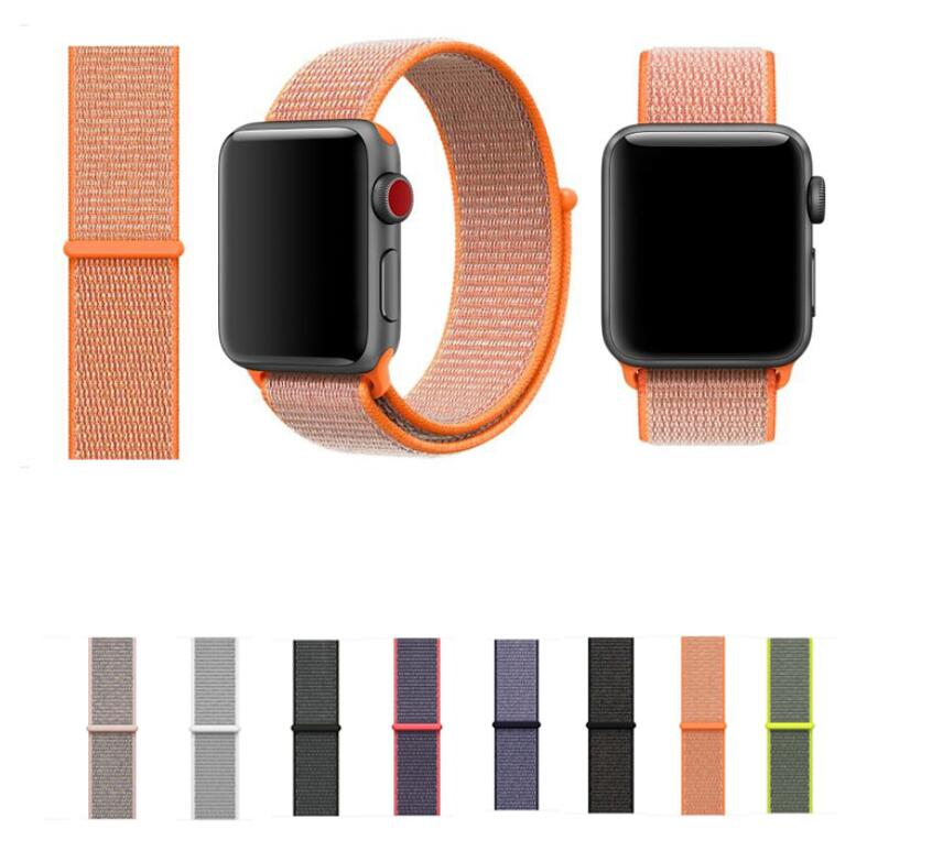 30PCS LOT sport woven nylon loop strap for apple watch band wrist braclet belt fabric like