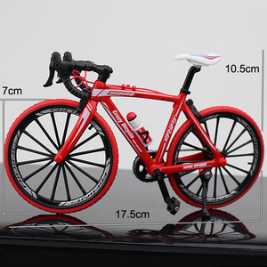 Image 4 - Bicicleta de carretera de Metal fundido a presión, escala 1:10, juguete de colección