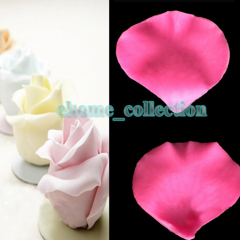 Newest 3d Rose Flower Petal Shapes Fondant Mold Silicone