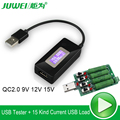 USB tester DC monitor de tensão Voltímetro amperímetro atual metros capacidade qc2.0 detecto + USB carregador rápido de Carga De Descarga Resistor