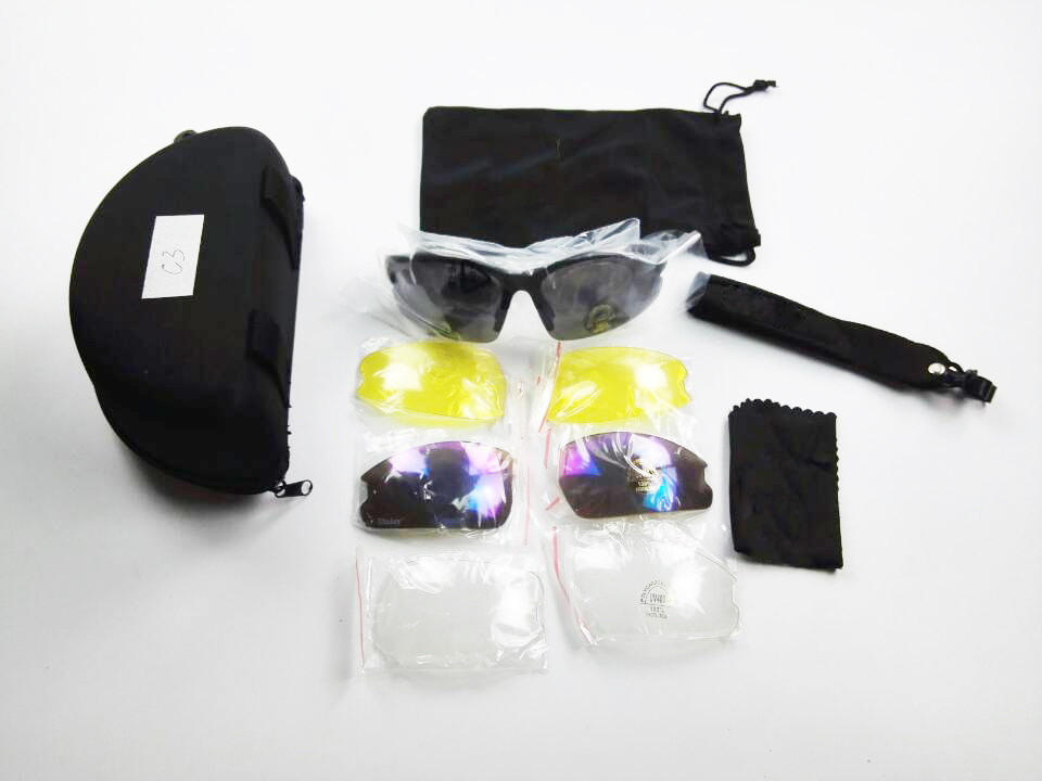 C3 Outdoor Hunting Men's Sport Glasses UV400 military tactical Combat shooting Goggles Army Protection Eyewear