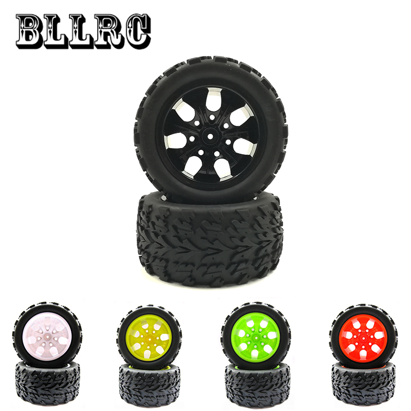 4PCS RC car 1/10 HSP HPI 12mm racing wheel rim tires diameter 115mm width 55mm Suitable for 1:10 94111 94188 94108 cactus cs wc315d