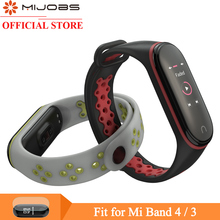 Mijobs Mi Band 4 Strap Sport Wrist for Xiaomi Silicone Bracelet 3 Smart Watch Miband