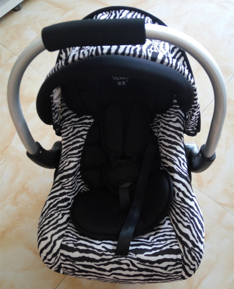 Sort / Hvid Stripes Baby Sæde Newbore Zebra Mønster Baskert Bil Sikkerhedssæder Portable Carriage Infant Baby Cradle Sæder