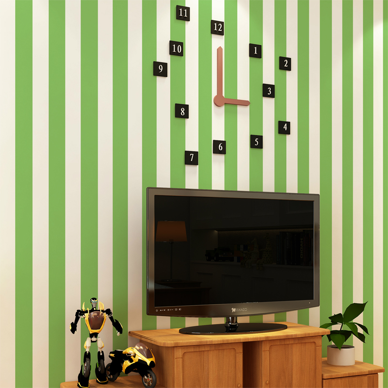Free Shipping Red White Vertical Striped Wallpaper Yellow Green Child Real Male Girl Bedroom 53m2 In Wallpapers From Home Improvement On